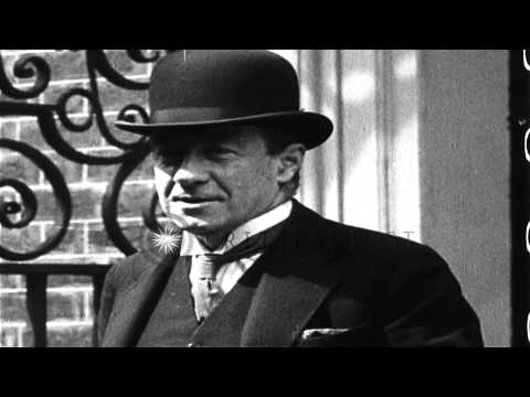 British Prime Minister Stanley Baldwin poses for photographs in the United Kingdo...HD Stock Footage