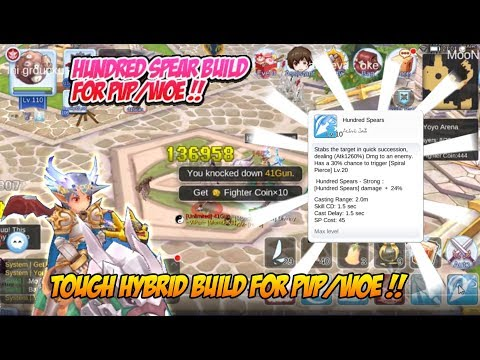 Ragnarok M Eternal Love : Hundred Spear Hybrid Build For PvP/WoE ! Tough And Deadly !