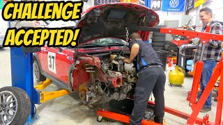 homepage tile video photo for Removing a Mini Cooper S Engine in less than 1 Hour? Mechanic Says No Problem!
