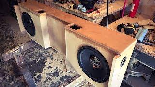 custom made subwoofer box part 1