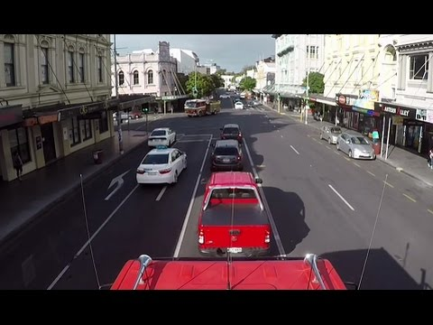 Geoff's Streetview :  Auckland's K Rd West to East with bonus fire engine