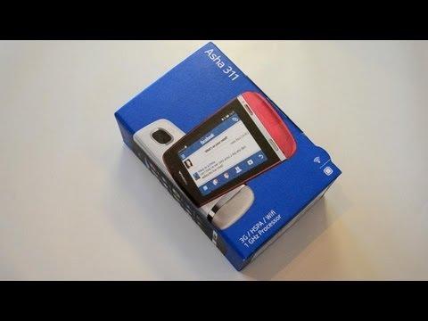 Распаковка Nokia Asha 311 (unboxing)