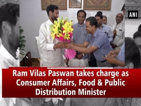 Ram Vilas Paswan Takes Charge As Consumer Affairs Food Public Distribution Minister Youtube