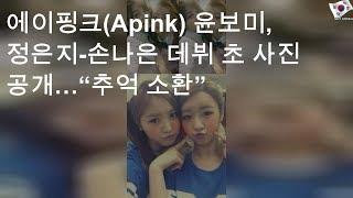 """에이핑크(Apink) 윤보미, 정은지-손나은 데뷔 초 사진 공개…""""추억 소환"""""""