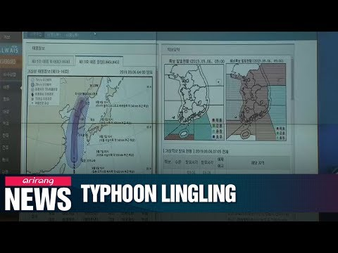 Typhoon Lingling is to hit South Korea starting Friday
