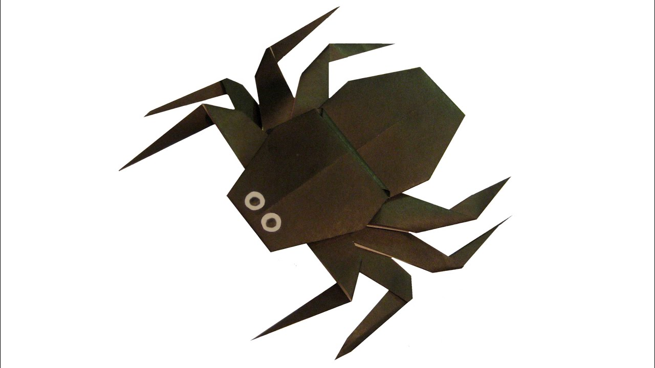 origami spider youtube