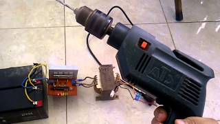Video inverter load 500watt power drill.. (test dengan program squarewave pada atmega328) download MP3, 3GP, MP4, WEBM, AVI, FLV Agustus 2018