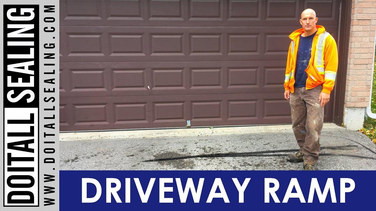 Asphalt Driveway Ramp Installation