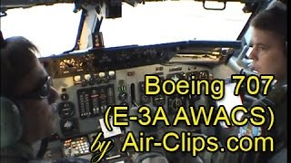 Boeing 707 (NATO E-3A AWACS), greatest sound in the world: takeoff from cockpit by [AirClips]