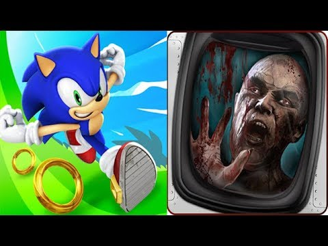 Sonic Dash vs Zombies on a Plane