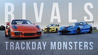 Rivals: Ford Mustang GT350R vs. Dodge Viper ACR vs. Porsche GT3 RS