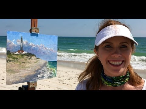 Plein Air Painting a Lighthouse & Beach with Jessica Henry