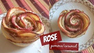 Rose feuilleté pomme/caramel - Recette simple et rapide (Cookwithso)