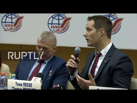 LIVE: Expedition 50-51 crew hold preflight press conference in Star City