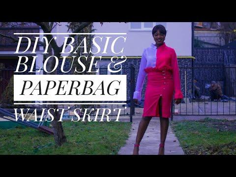 DIY : basic blouse and paperbag waist skirt
