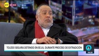 """Juan Carlos Valdivia: """"No hay posibilidad alguna de que Toledo salga libre"""""""