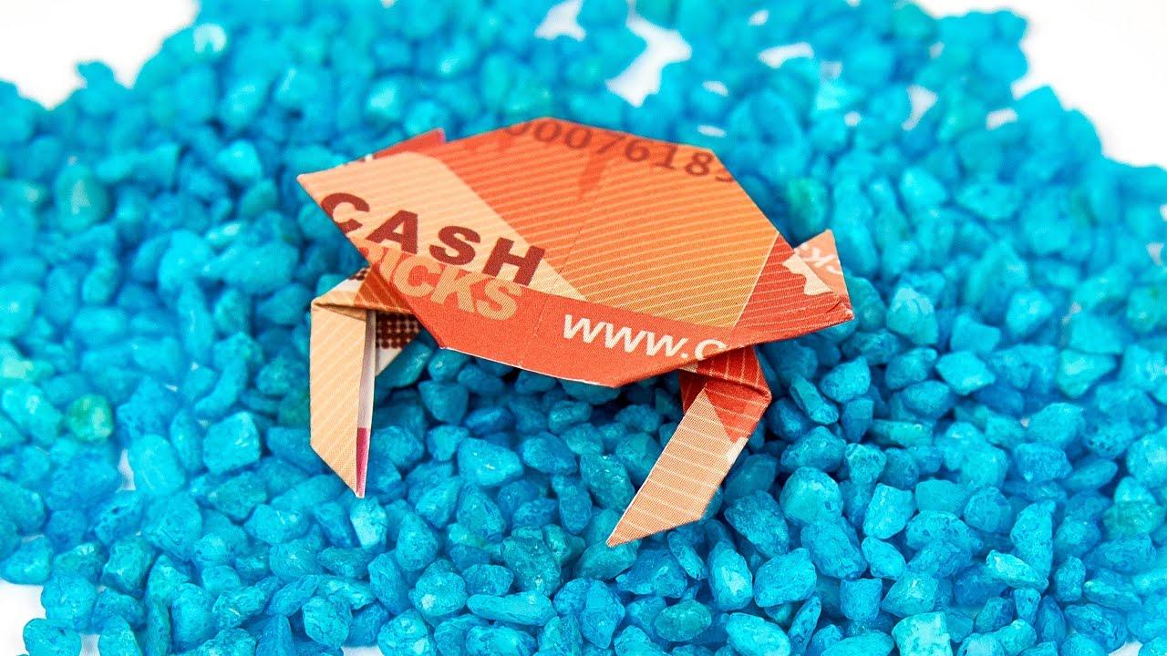 krabbe aus geld falten krebs aus geldschein basteln origami anleitung youtube. Black Bedroom Furniture Sets. Home Design Ideas
