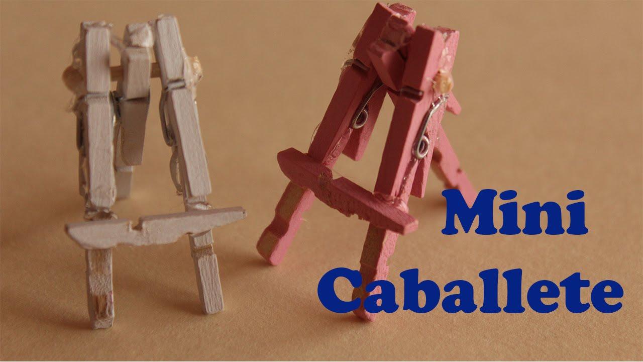 Mini caballete ganchos de madera youtube - Caballetes de madera ...