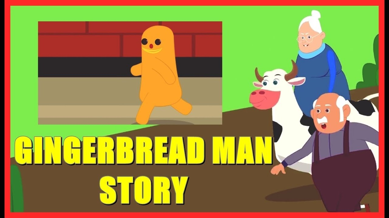 The Gingerbread Man Story in English | Gingerbread Man ...