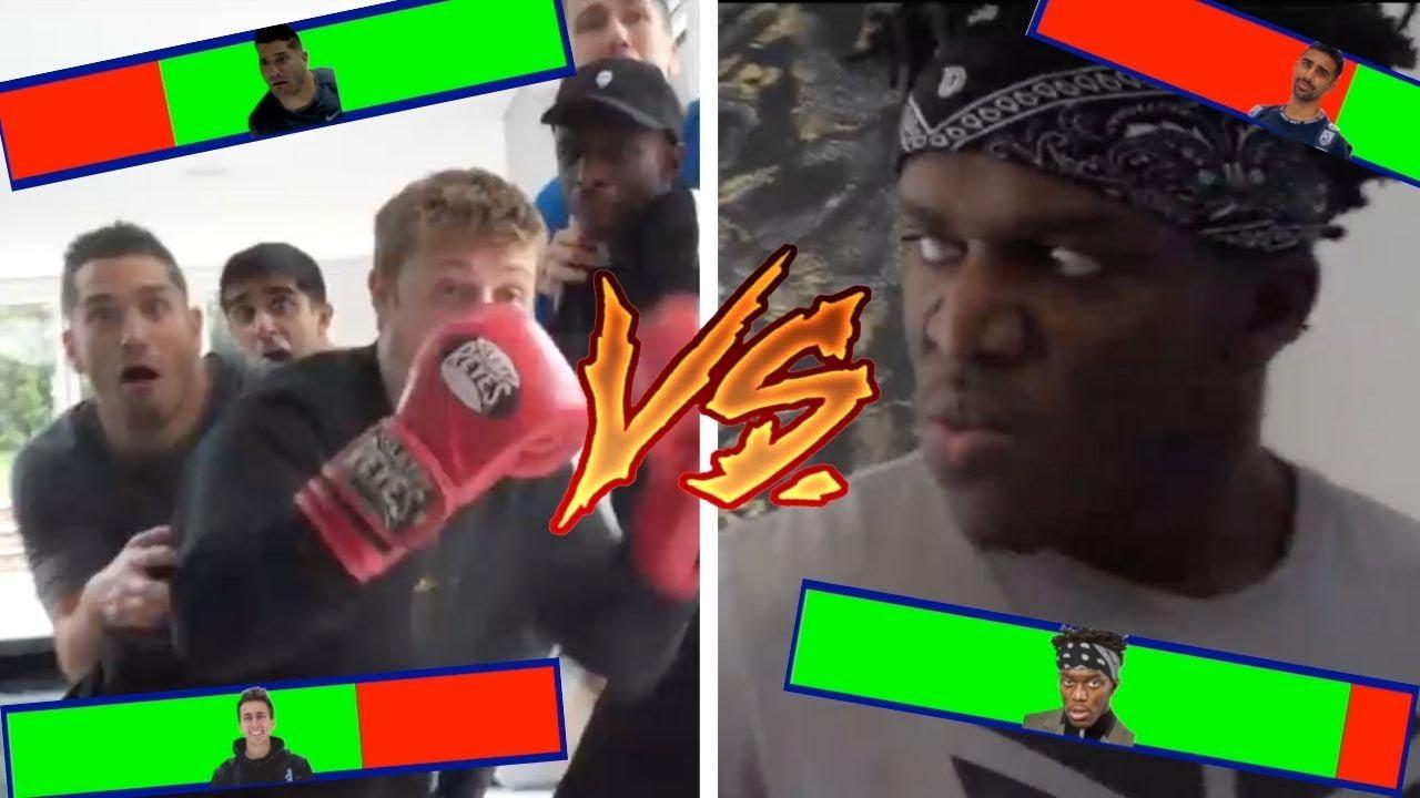 KSI vs The Sidemen With Healthbars!