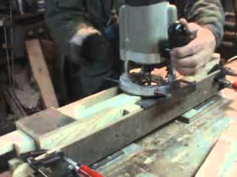 Изготовление паза ручным фрезером. Вариант 1 - YouTube