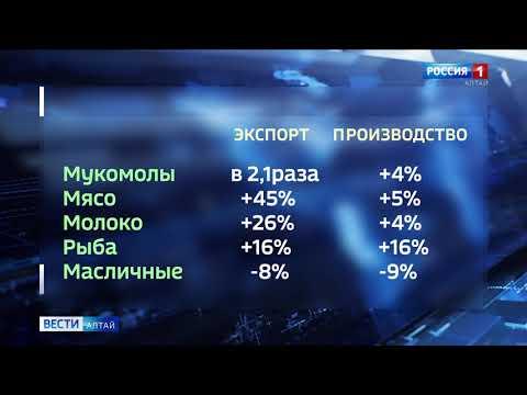 Алтайские экспортёры заработали за 10 месяцев 212 млн долларов