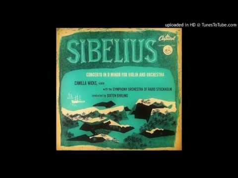 Sibelius Violin Concerto M1 allegro moderate (Camilla Wicks)