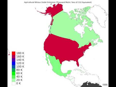 North America - Agricultural Nitrous Oxide Emissions - Time Lapse