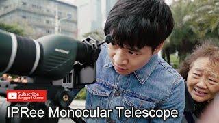 IPRee 15 45X60S Monocular Telescope HD Optic Zoom Lens Bird Watching High Definition View Eyepiece