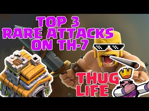 TOWN HALL 7 CRAZY ATTACKS YOU NEVER SEEN IN CLASH OF CLANS