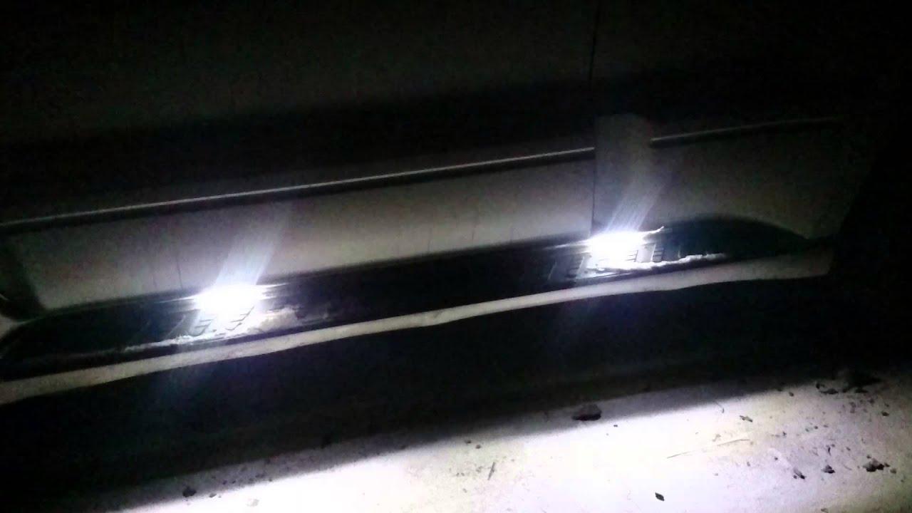 Подсветка подножек и габариты Митсубиши Паджеро 3