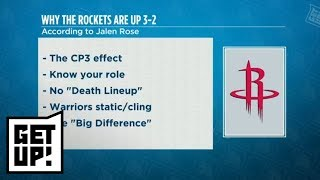 Jalen Rose: Why Rockets are beating Warriors 3-2 in Western Conference finals | Get Up! | ESPN