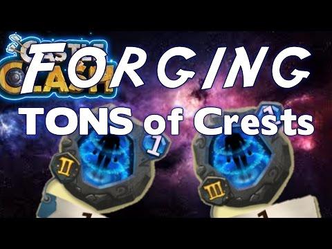 Forging TONS Of Crests CastleClash