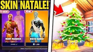 "UNVEIL THE CHRISTMAS SKINS! ""BEAUTIFUL"" New DRIFTBOARD! Fortnite News ITA"