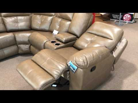 Brighton Beautyrest Pocket Coil Seating Reclining Sectional Sofa Made In The USA