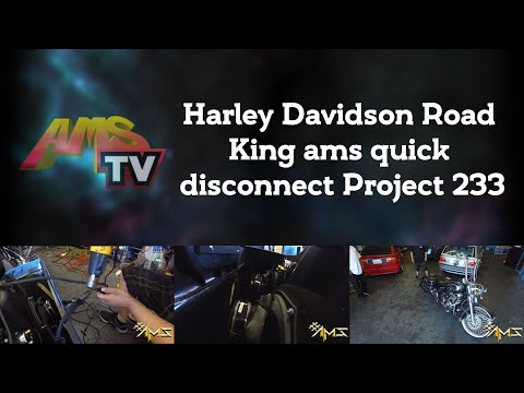 Harley Davidson Road King ams quick disconnect Project 233