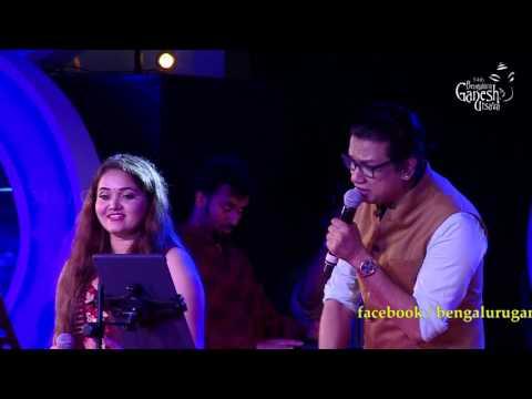 "Vijay Prakash & Anuradha Bhat singing ""Jotheyali Jothe Jotheyali"" @ 54th Bengaluru Ganesh Utsava"