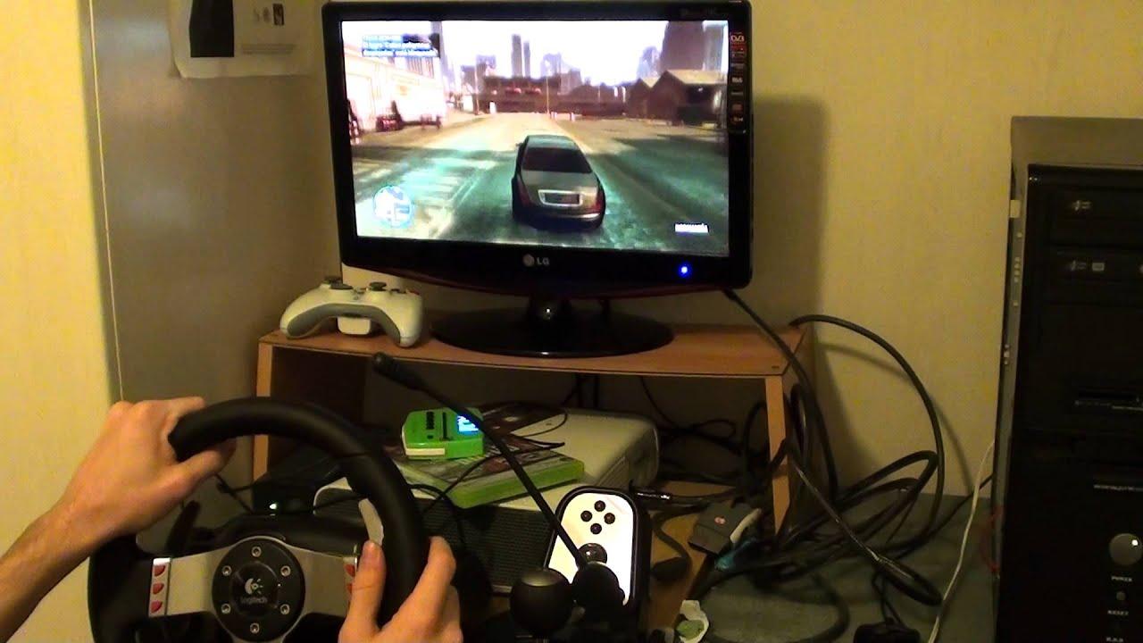 GTA IV with Wheel Logitech G27 First video on youtube Wheel - GTA IV! - YouTube