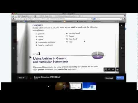 High Advanced English - Lesson 13 - Grammar: Articles Review: a, an, the