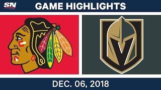 NHL Highlights | Blackhawks vs. Golden Knights - Dec 6, 2018