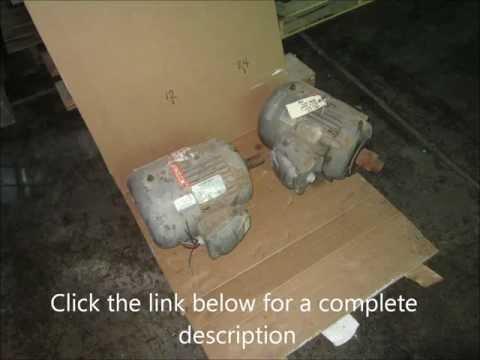 Ingalls Equipment - 7.5 hp Siemens - Allis Motors, qty.2.  UL tagged