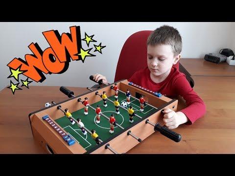 Настольный футбол Распаковка и обзор Soccer Table из Ашана