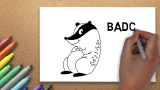 How to Draw a Badger | Massive Kidszone