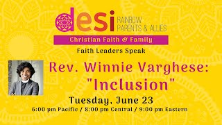 Faith and Family: Rev. Winnie Varghese on Inclusion