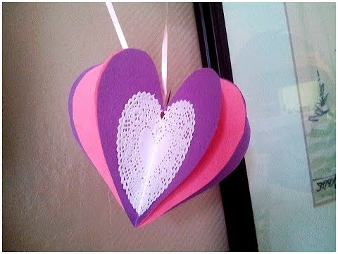 How To Make A 3d Paper Heart Valentines Day Craft Youtube
