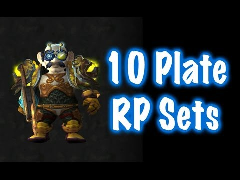 10 Cool Plate RP Sets - (World of Warcraft) & 10 Cool Plate RP Sets - (World of Warcraft)
