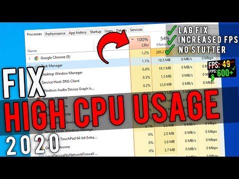 🔧How To Fix 100% CPU Usage While Gaming ✅ | Fix High CPU Usage Windows 10