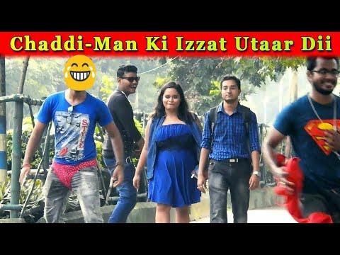 CHADDI-MAN KI IZZAT UTAAR DII | FUNNY PRANK IN INDIA | FUNDAY PRANKS