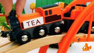 Brio TEA TRAIN! - Toy train sets for kids - Children's Toys videos for kids - Trains for Kids