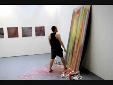 | James Bell | Live Painting Performance 2011 | Middlesex University Fine Art Degree Show |